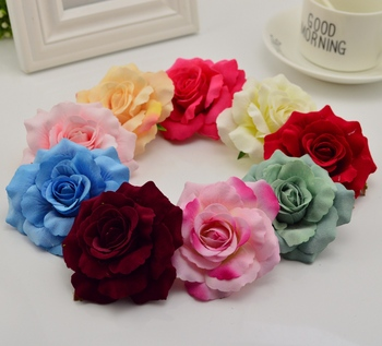 1pcs 7cm Artificial flowers for home wedding decoration accessories silk rose DIY wreaths Bridesmaids headdress