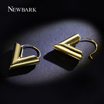 NEWBARK Fashion Classical Simple Earrings Gold Color Heart Drop Earring Lovely Cute Lady Gift For Women Brinco Jewelry