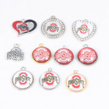 11 Stilleri 10 ADET OHIO STATE Dangle Charms DIY Kolye & Bilezik ve Küpe Için Moda NCAA Spor Takı