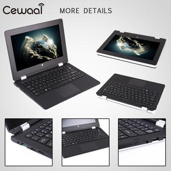 Cewaal 2 in 1 Ultra Ince Tablet PC Dizüstü Bilgisayar Windows 10 Intel Celeron 4 GB RAM + 32 GB ROM Bluetooth 4.0 1920*1080 dizüstü
