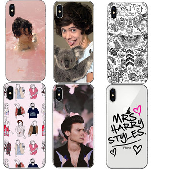 One Direction 1D Sert PC Telefon Kılıfı için iphone 5 5 S 6 6 S Artı 7 7 Artı 8 8 Artı harry styles Kapak iphone X 10 Kılıfları